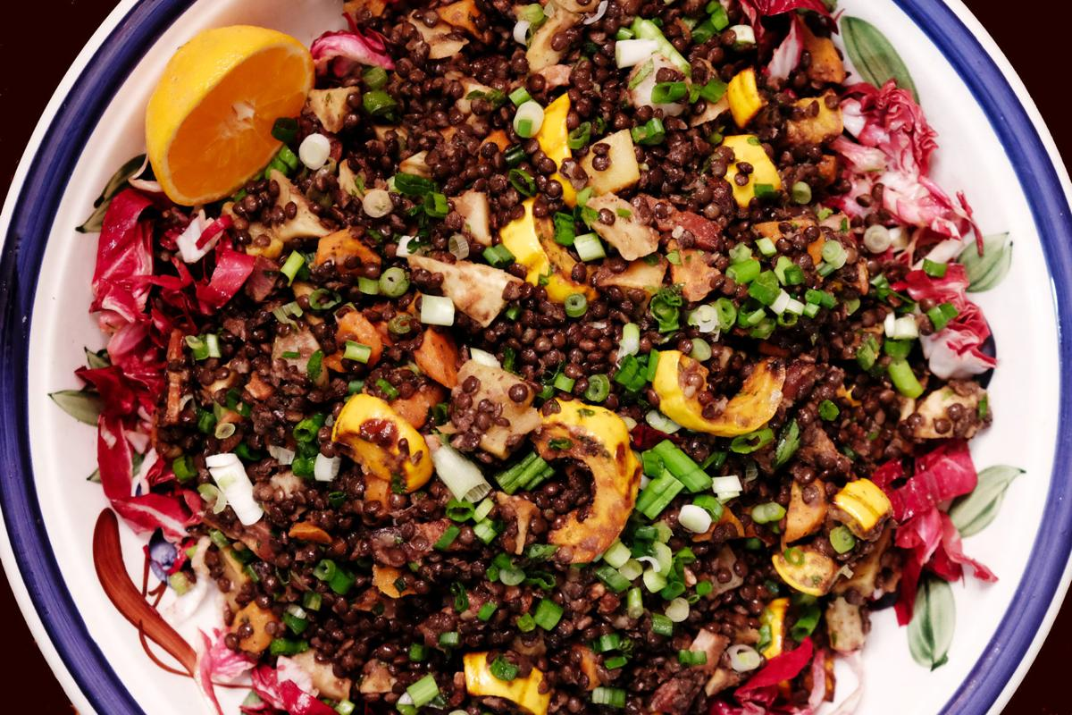 Roasted Winter Vegetable & Lentil Salad