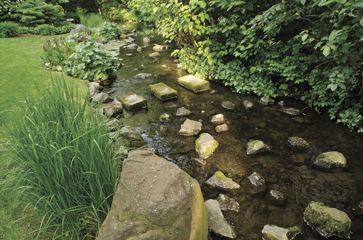 Cardell Garden: stone creek