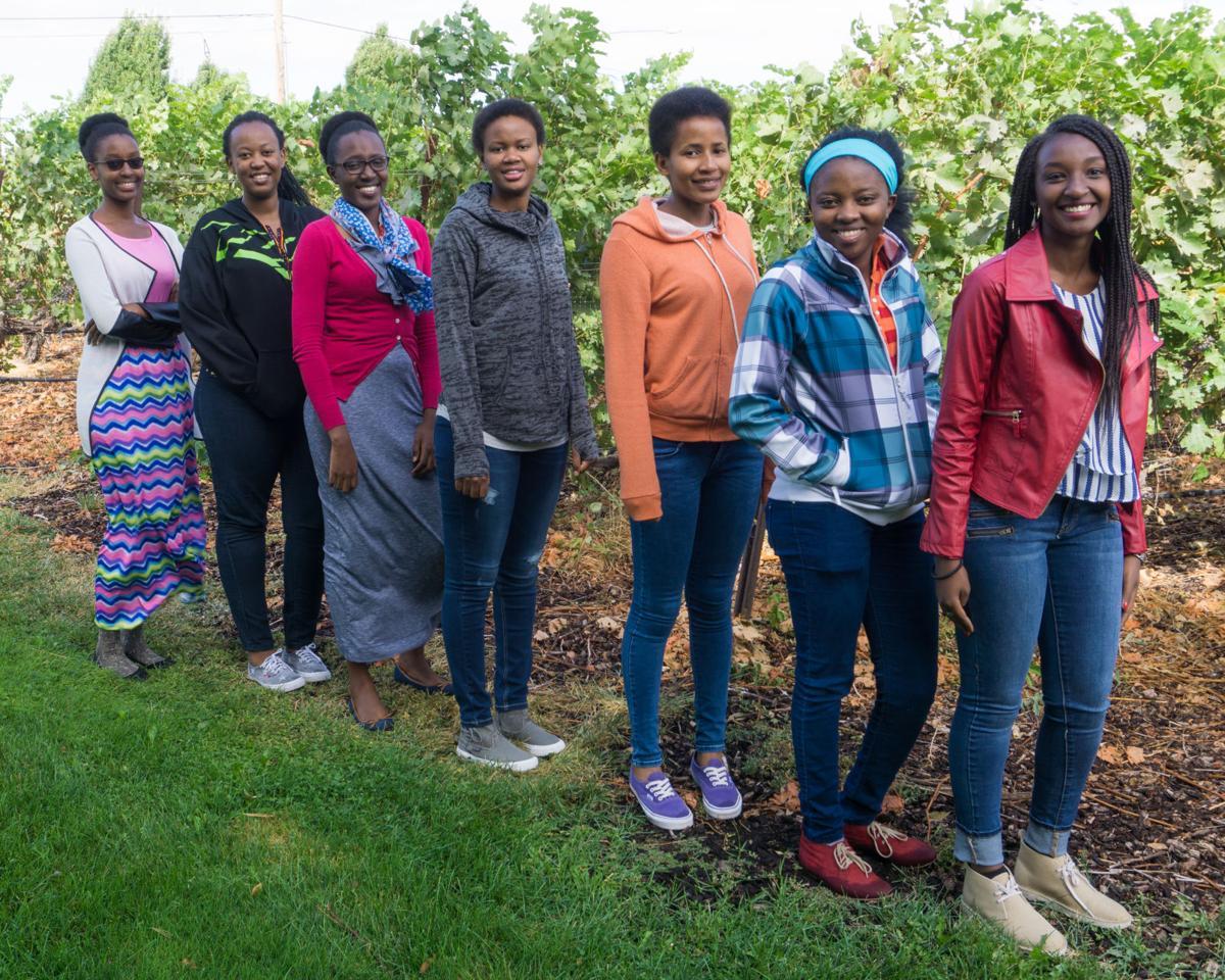 Rwandan students at WWCC