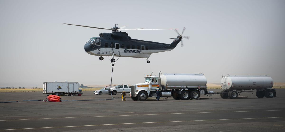 Fire Fighting Helicopter Refueling
