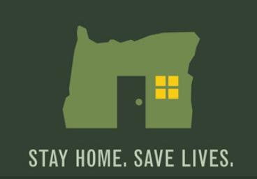 Oregon Stay Home, Save Lives logo