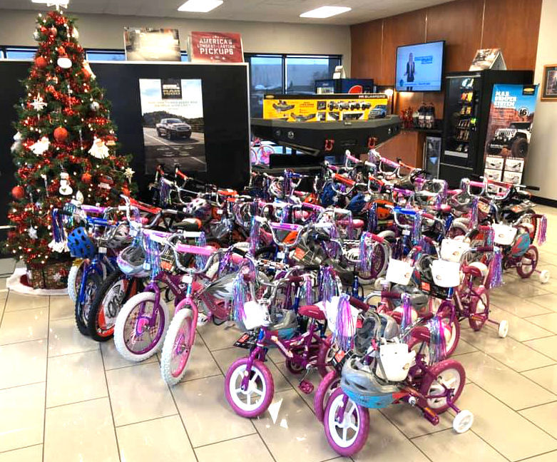 Chrysler Dodge Jeep Ram of Walla Walla bike drive for The Salvation Army