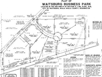 Waitsburg Business Park plat map