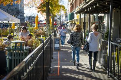Downtown businesses improvise in pandemic