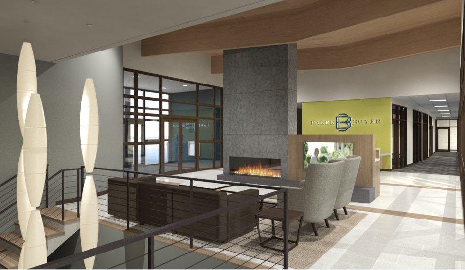 Bank lobby rendering