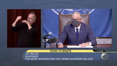 Inslee addresses the state on new coronavirus measures in virtual briefing Sunday morning