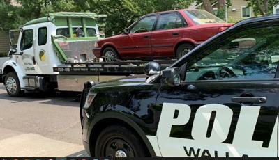 Walla Walla police and four new tires on a woman's damaged car