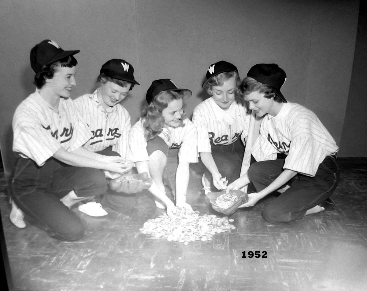 Bears baseball Booster girls at Borleske 1952