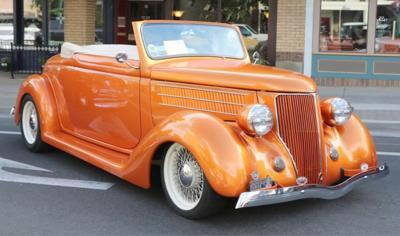Orange wheelin WW car