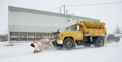 Snow plow in Milton-Freewater