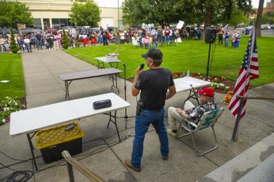 Anti-mandatory Vaccine Rally