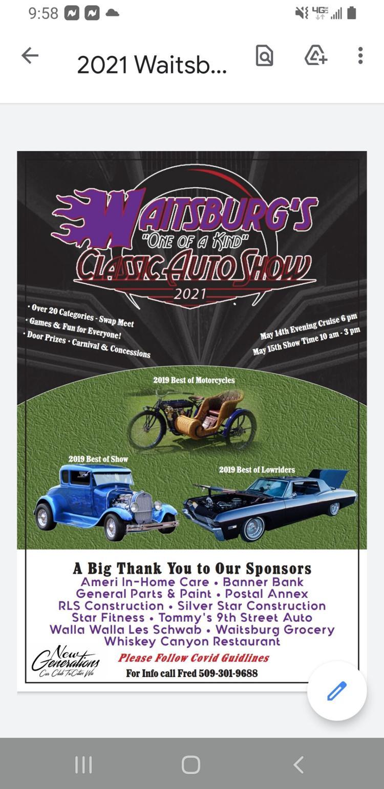 Waitsburg Auto show Poster