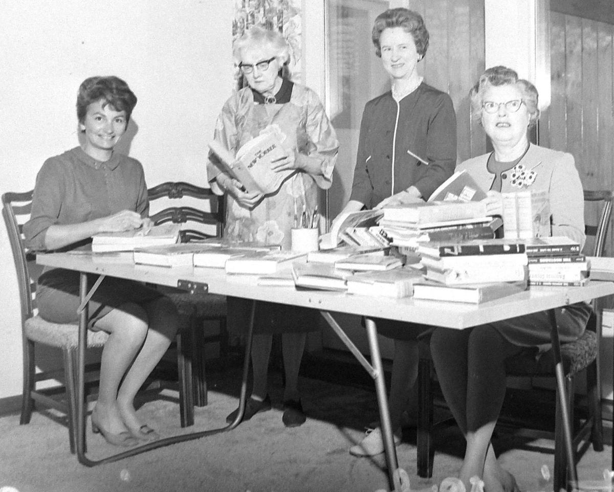 AAUW women prepare book sale - 1968