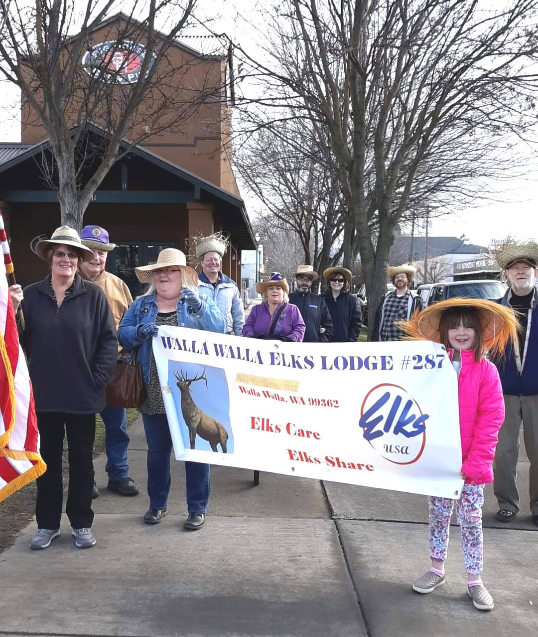 Elks Lodge straw hat this year