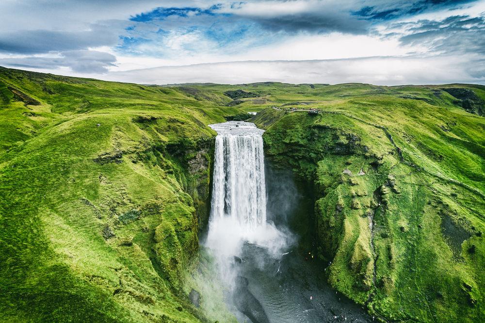 Skogafoss Waterfall in Iceland.