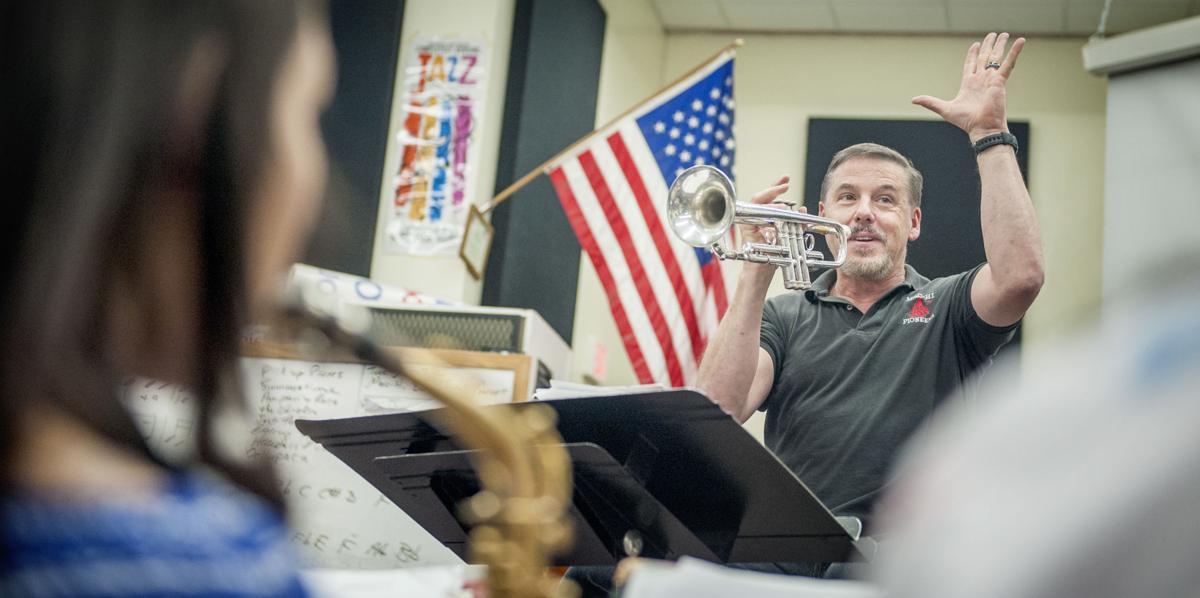 McLoughlin High School band director Mike Agidius
