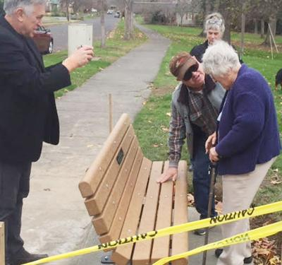 New bench in Wildwood Park commemorates romantic event from 75 years ago