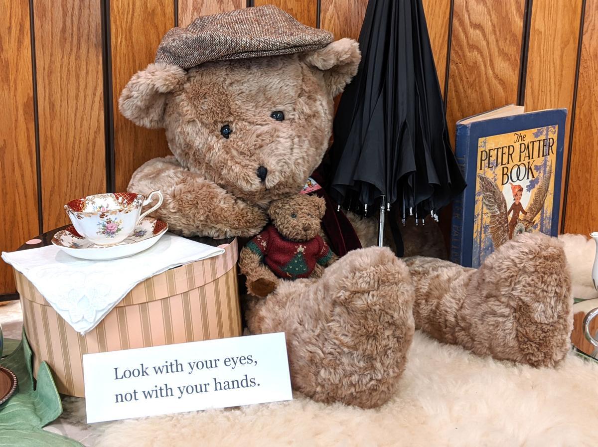 Teddy bear tea display by Judy Kessler