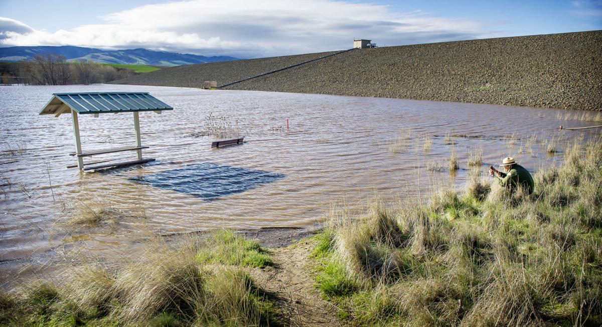 High water in Bennington Lake