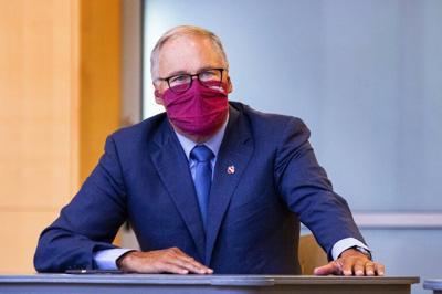Gov. Jay Inslee masked