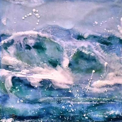 190815 Art Workshop encaustic 8-24 Macro Wave encaustic by Lauri Borer.jpg