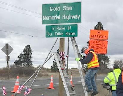 New Gold Star Memorial Highway signage