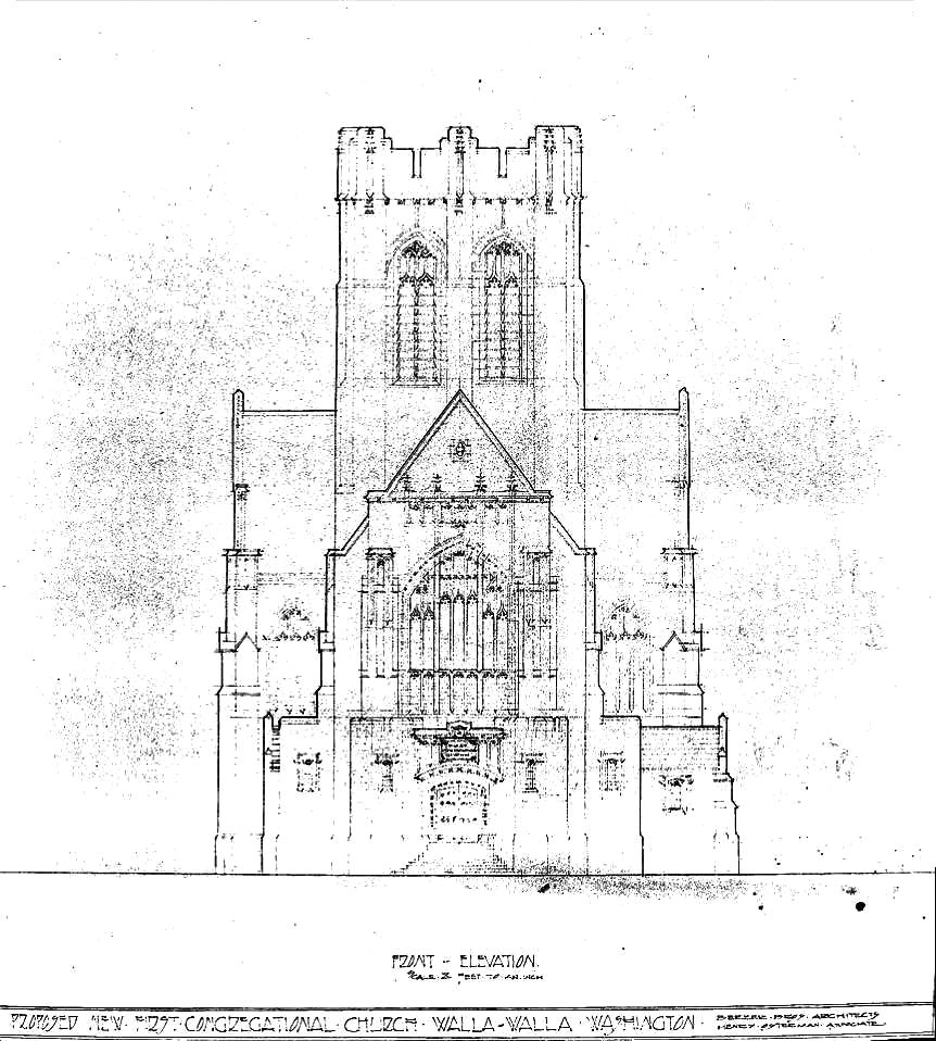 A forgotten dream: The unrealized Gothic structure planned