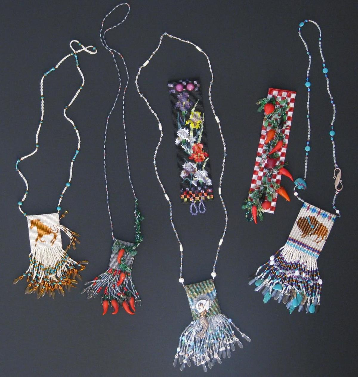 Beaded Amulet Necklaces