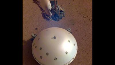 InSight's domed Wind and Thermal Shield
