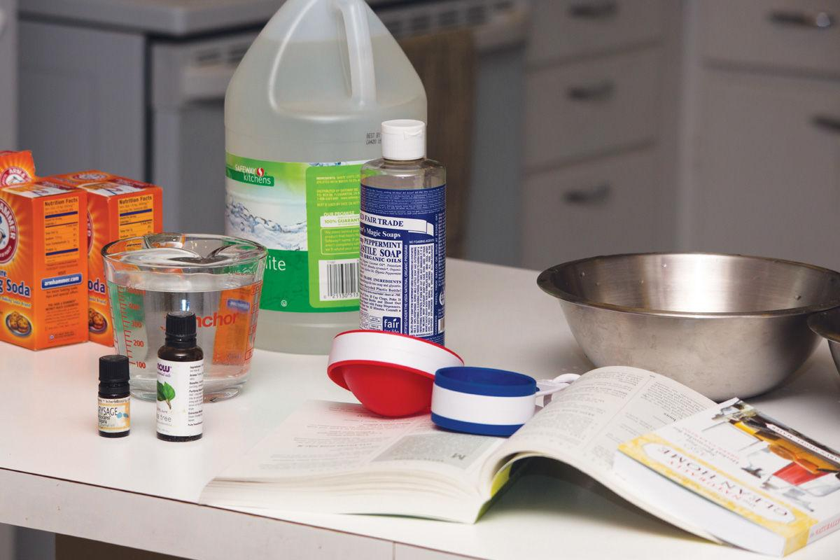 Simple items for cleaning products