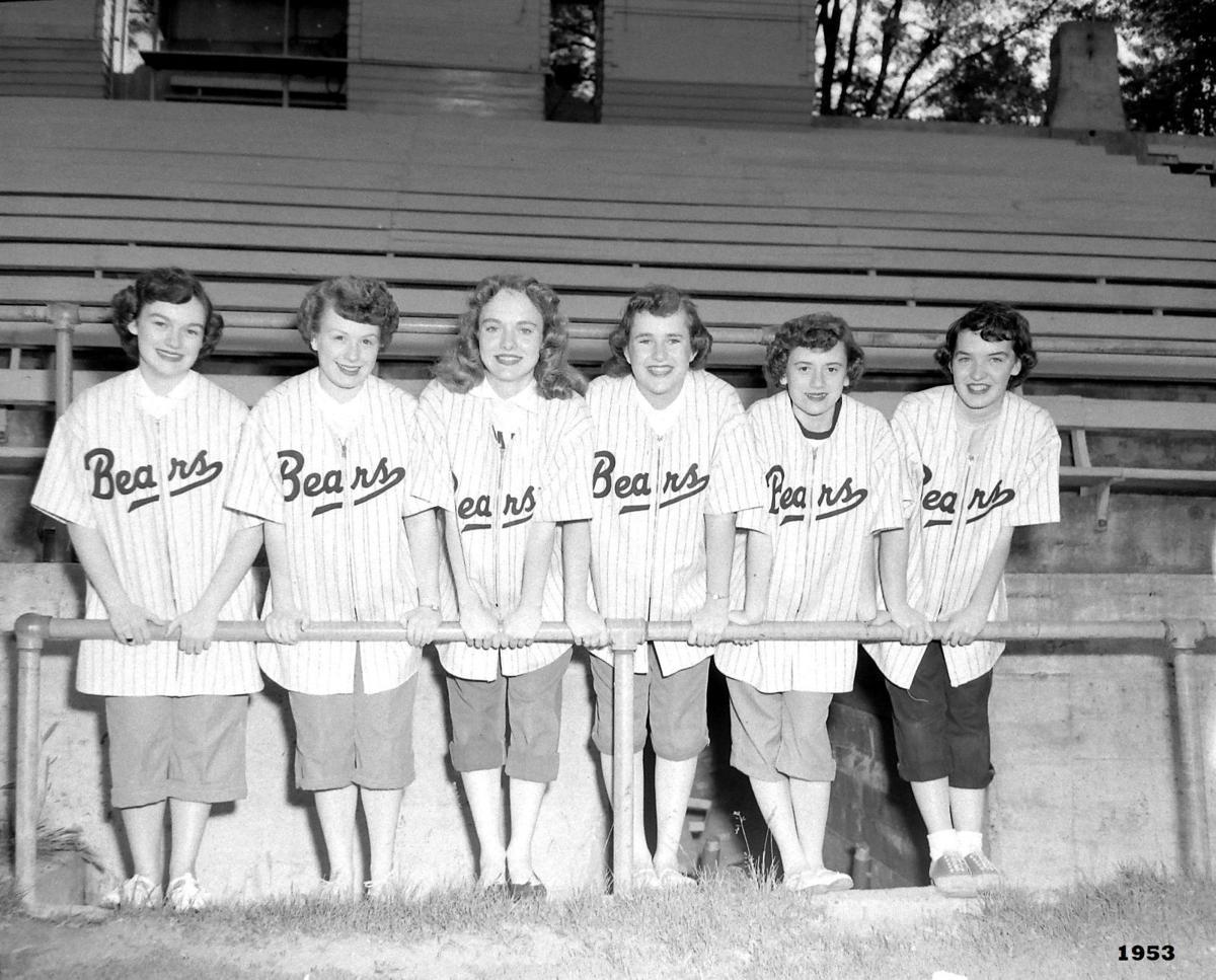 Bears baseball booster girls, June 9, 1953.