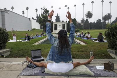 Cemetery yoga