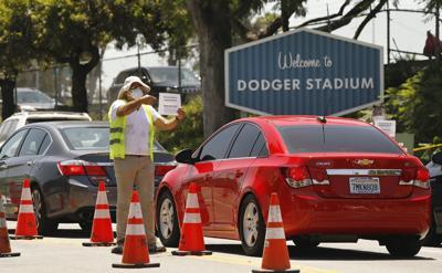 Dodgers Stadium COVID testing
