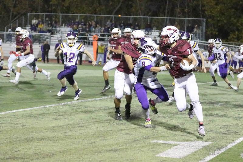 Jonny Lozano escapes the tackle.