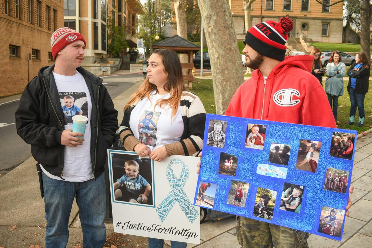 Justice for Koltyn Rally in Courthouse Square