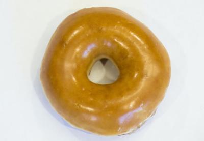 Krispy Kreme glazed doughnut