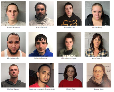 Eight from NH, two from Lawrence, Mass., arrested on drugs and weapons charges after 'months-long' investigation