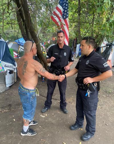Homeless handshake