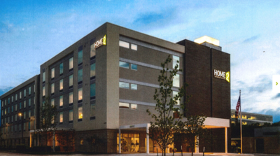Proposed extended stay hotel in Bedford