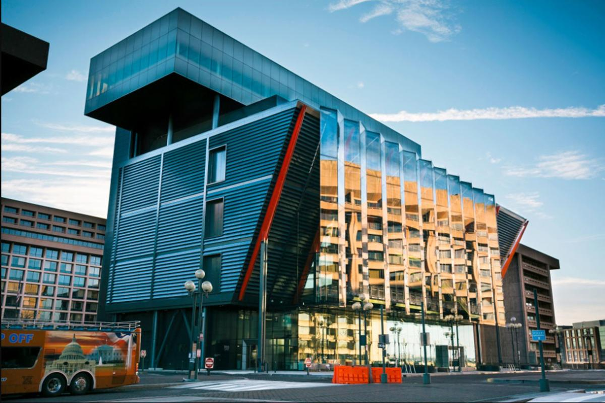 The best part of the new International Spy Museum? Its exterior