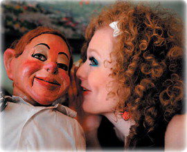 Carla Rhodes combines comedy, ventriloquism and music in her act. Her comedic partner is Cecil, a puppet who was constructed in the 1920s in London. The duo was featured in an episode of the television series '30 Rock.'
