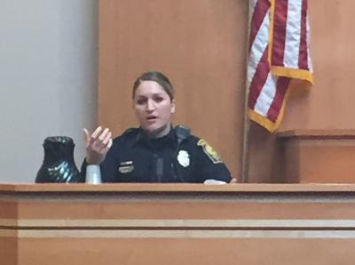 Officer Canada Stewart testifies
