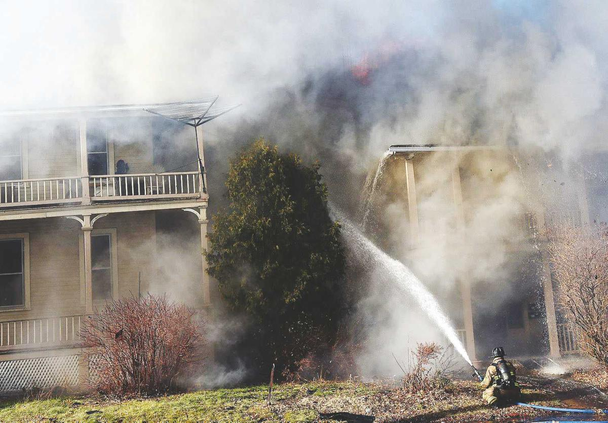 2017 Fire destroyed city apartment building