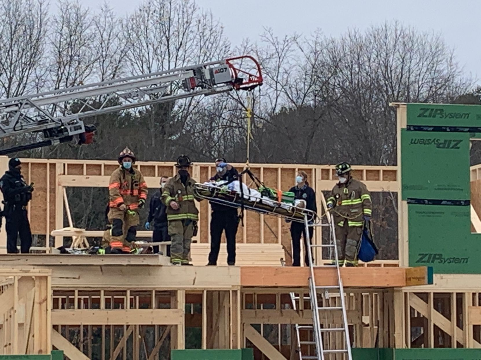 Windham wall collapse injures 2 construction workers; 1 Medflighted