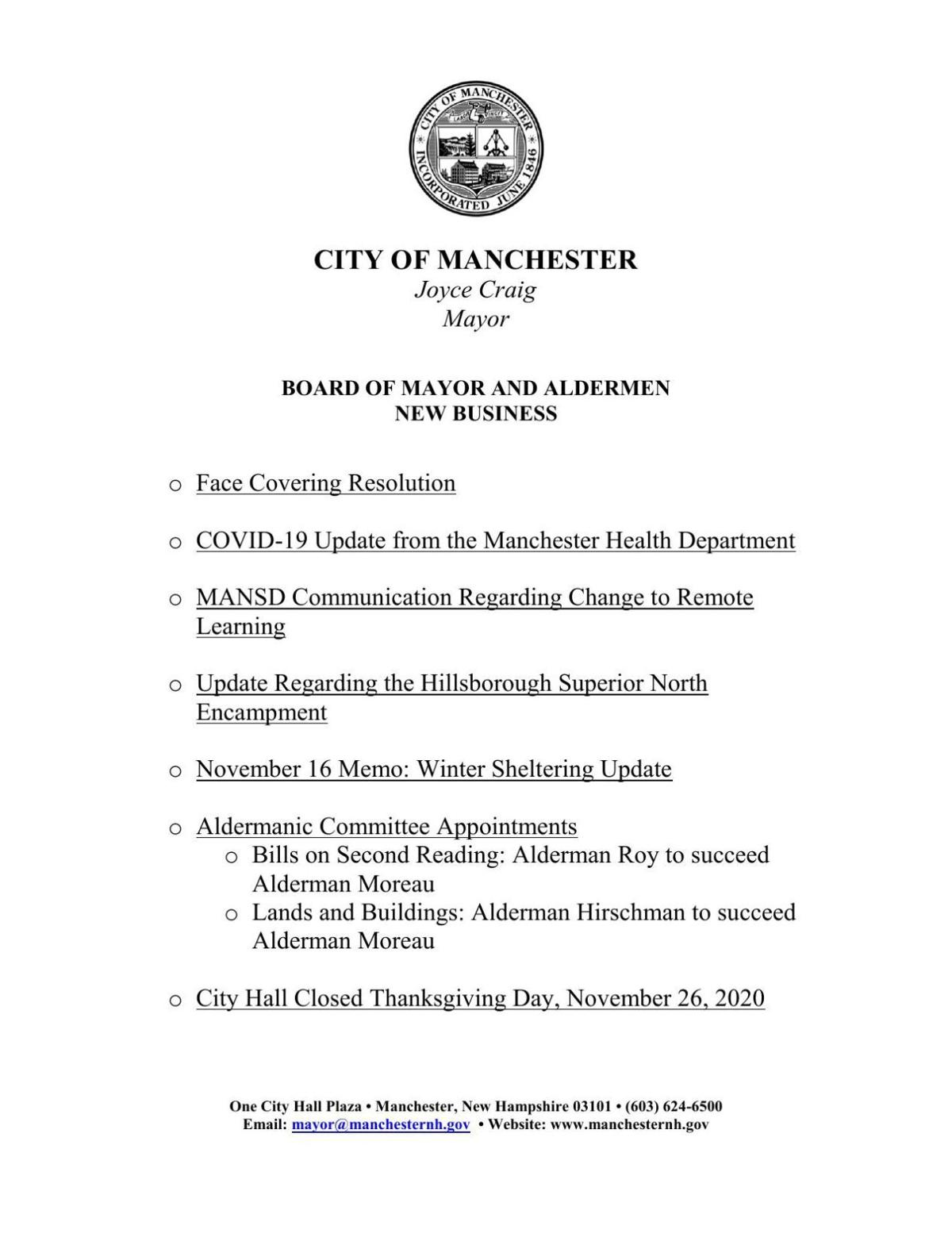Mayor's statements on homelessness, masks