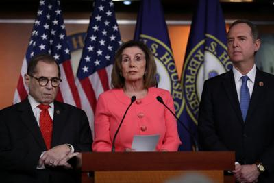 U.S. House Speaker Pelosi announces House managers for Trump impeachment trial during news conference on Capitol Hill in Washington