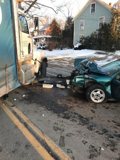 Elderly woman killed after car collides with box truck in Northwood