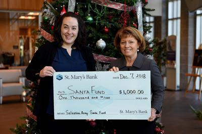 Santa Fund donor -- St. Mary's Bank