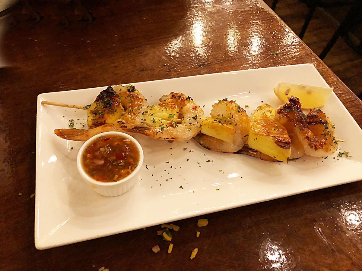 Tostao's shrimp pineapple chuzo