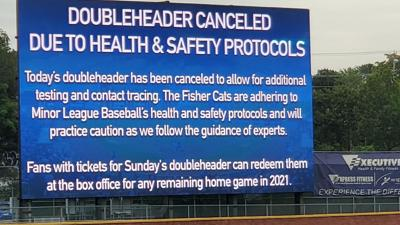 Fisher Cats doubleheader canceled